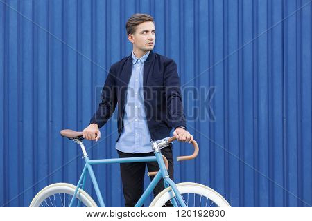 Ecological Young Businessman