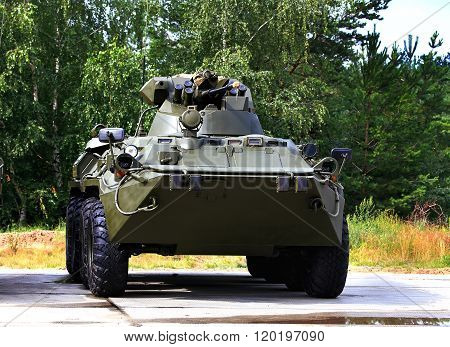 RYAZAN REGION  -   JULY 10: Armoured vehicle for infantery transportation with 30 millimeter cannon and machine gun  -  on July 10, 2015 in Ryazan region