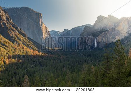 Sunrise At The Valley Of Yosemite