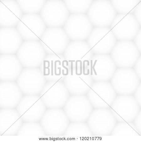 White And Gray Hexagonal Abstract Texture. Vector Graphical Pattern For Design