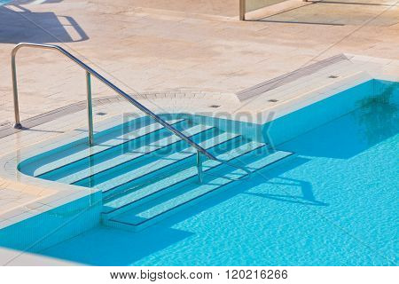 Outdoor Swimming Pool With Staircase