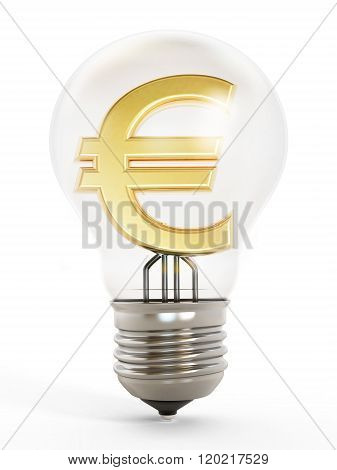 Dollar Symbol Inside The Lightbulb