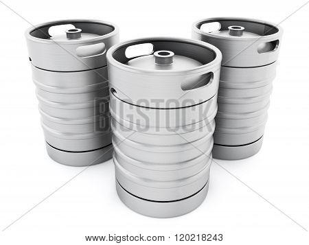 Three Kegs