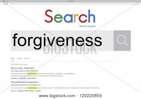 Forgiveness Forgiving Forgiven Apologize Choice Concept
