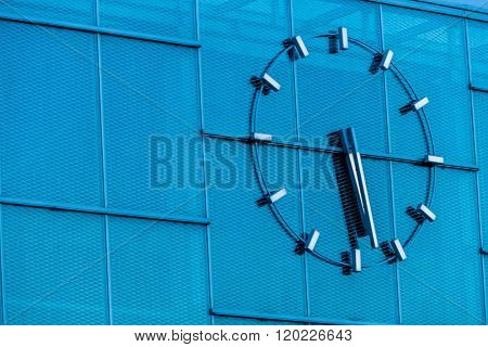 clock on a building