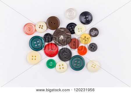 Colored Buttons On White Background