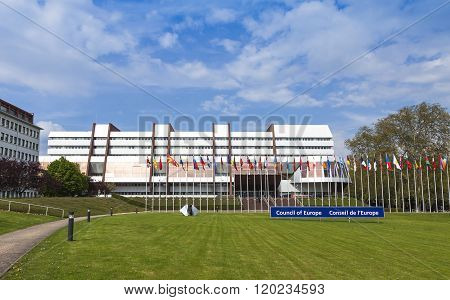 Building Of Palace Of Europe In Strasbourg City, France