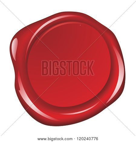 Vector Realistic Wax Seal Stamp Template Illustration