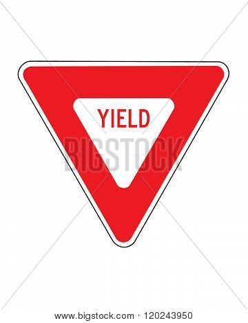 Vector yield traffic sign