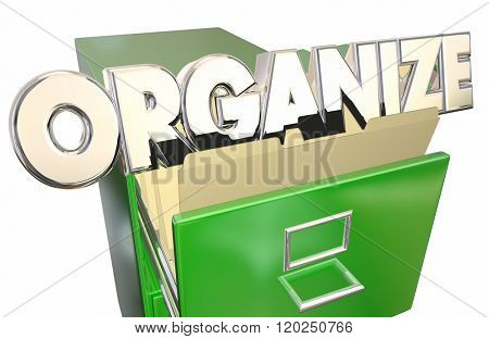 Organize Word File Cabinet Folders Keep Information