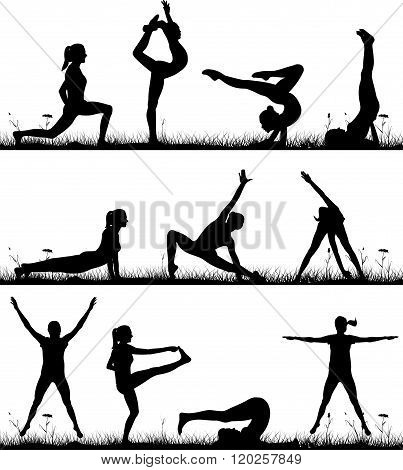 fitness and gymnastics in the open air