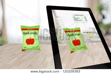 Augmented Reality Apple Crisps On A Table
