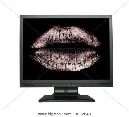 Liebe Nachricht in lcd-Bildschirm