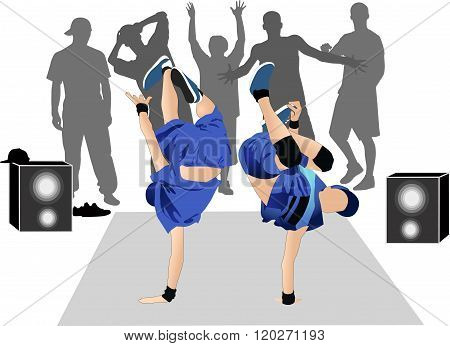 Guys dancers breakdance street