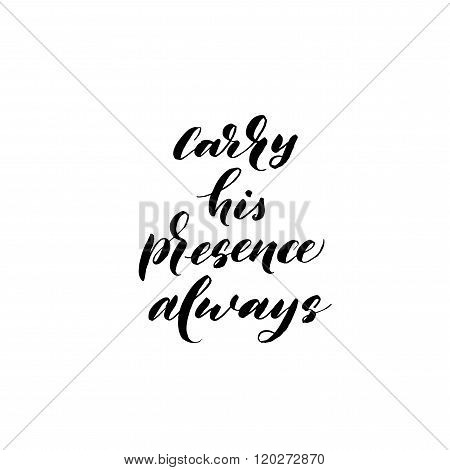 Carry His Presence Always Card.