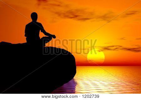 Йога - Закат медитация