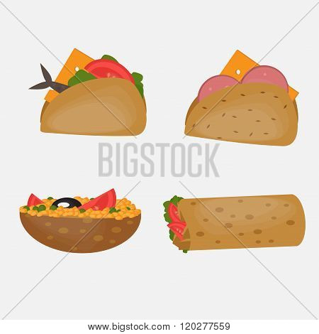 Turkish Fast food, Traditional  street food, Turkish cuisine.