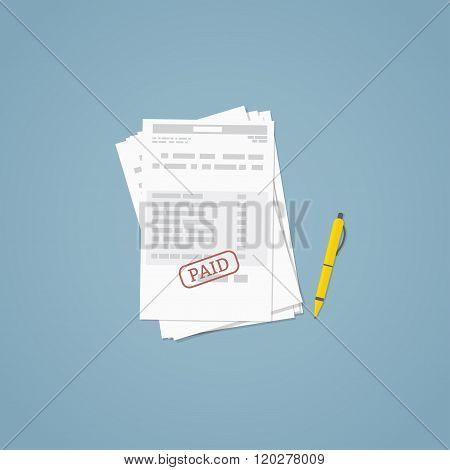 Paid Invoice Document