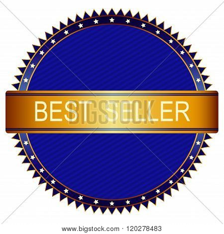 Gold Best Price Badge With Blue