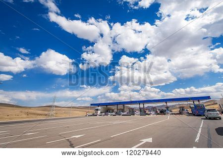 Checkpoint on boundary when entering Ulan-Bator, Mongolia