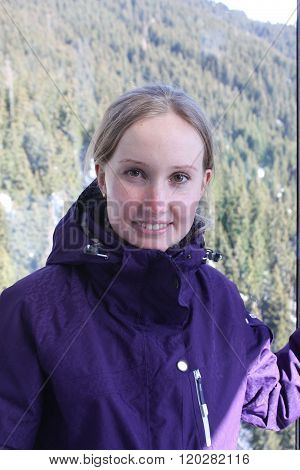 Woman face. Skiing resort in North Tirol, Austria.