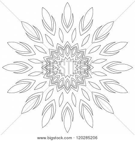 Black Symmetric Mandala