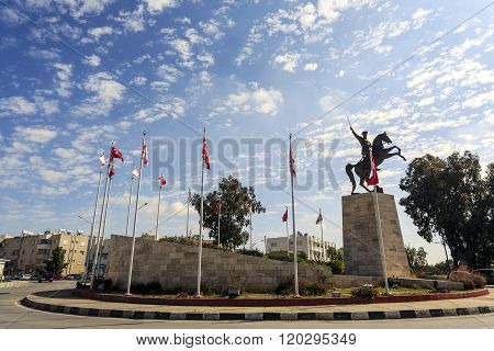 Ataturk Statue In Turkish City Close To Nicosia, Cyprus