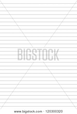 Notebook paper with one centimeter gray line a4 size