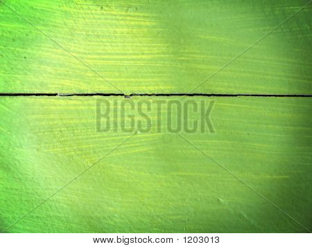 Wooden Board Painted By A Green Paint