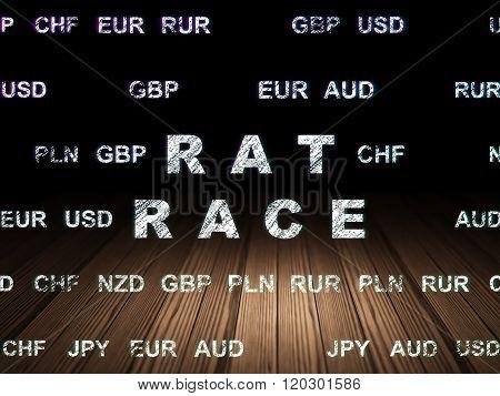 Business concept: Rat Race in grunge dark room