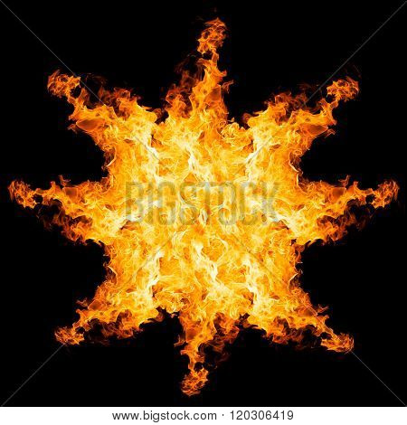 fire explosion isolated