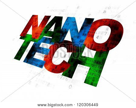Science concept: Nanotech on Digital background