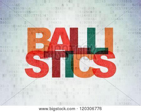 Science concept: Ballistics on Digital Paper background