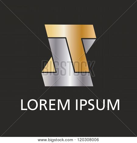 Brand icon, double T letter