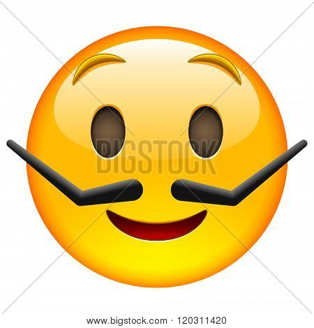 Emoticon With Moustache