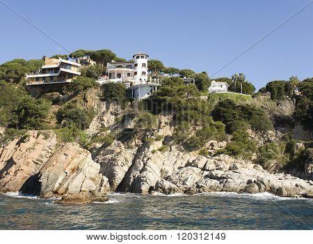 Spain Costa Brava. Home on the rock.