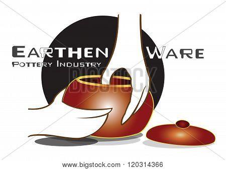 Pottery Industry Earthen Ware Logo Design