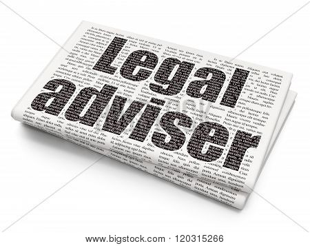 Law concept: Legal Adviser on Newspaper background