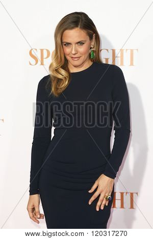 NEW YORK-OCT 27: Actress Alicia Silverstone attends the 'Spotlight' New York premiere at Ziegfeld Theatre on October 27, 2015 in New York City.
