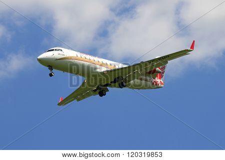 Aircraft Bombardier CRJ-200ER (VP-BMN) ruslayn airlines landing at Pulkovo airport