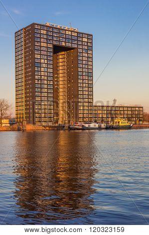 Apartment Building Tasman Tower In Groningen