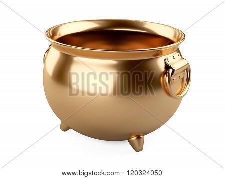 Empty Gold Pot.