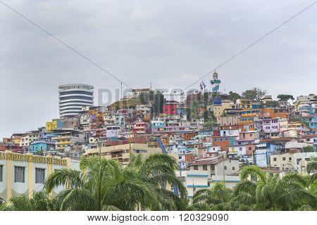 Low Angle View Of Cerro Santa Ana In Guayaquil Ecuador