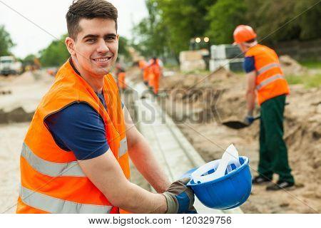 Smiling Building Worker