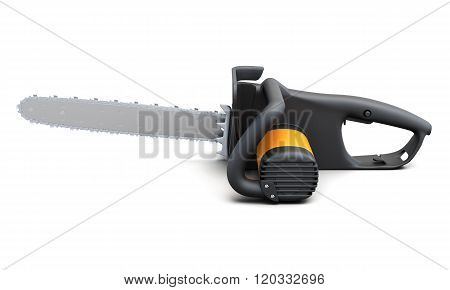 Electric hand saw on white background. 3d rendering