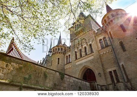 beautiful romantic ancient  castle Marienburg, Niedersachsen, Germany