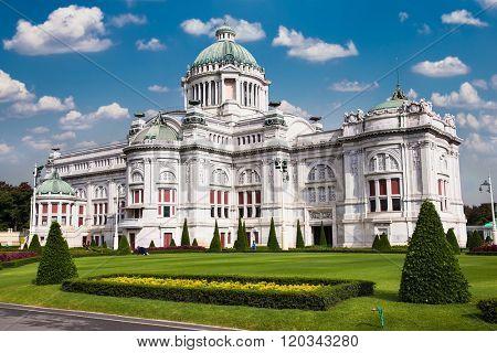 Italian neo-classical architecture of Anantasamakhom Throne Hall in Bangkok, Thailand.