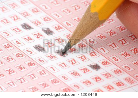 Lottery Ticket And Pencil
