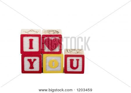 I Luv You On White With Path