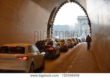 Traffic Jam In Budapest